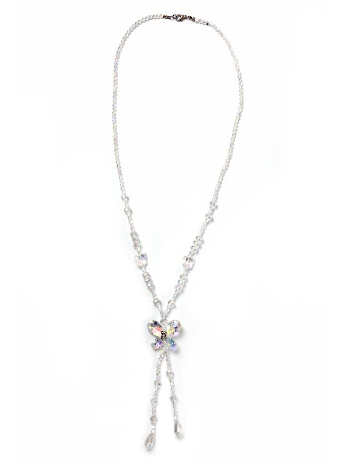 Collezione Alessandro Lange Kette Bo angesagte Y Form, kristall AB