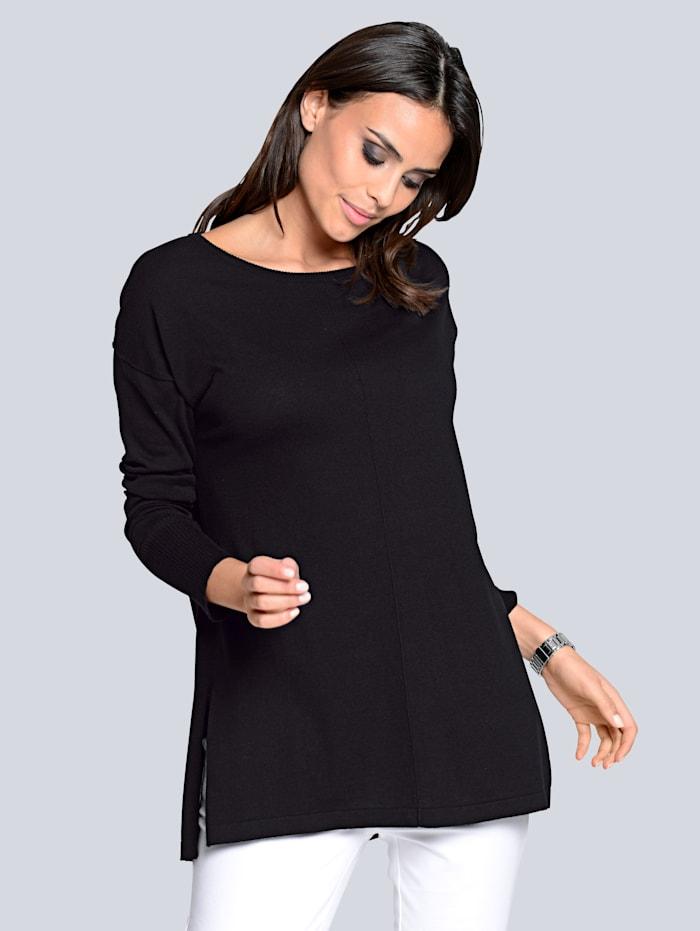 Pullover in softem Glattstrick