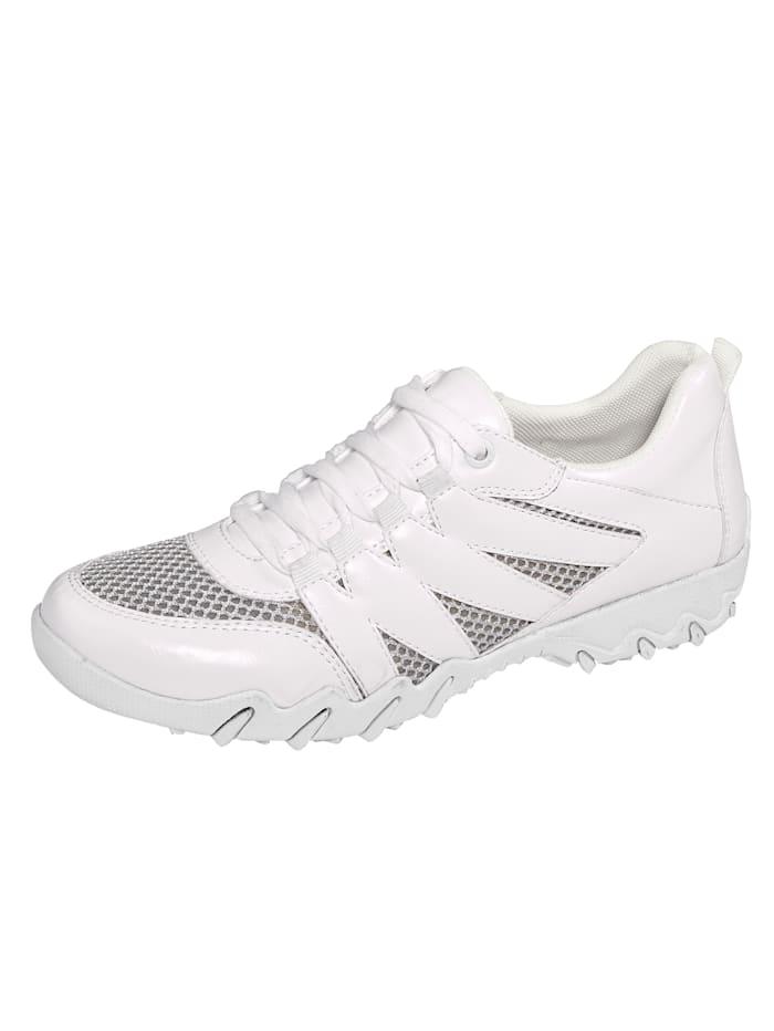 Liva Loop Šněrovací boty se vzdušnými mesh vsadkami, Bílá