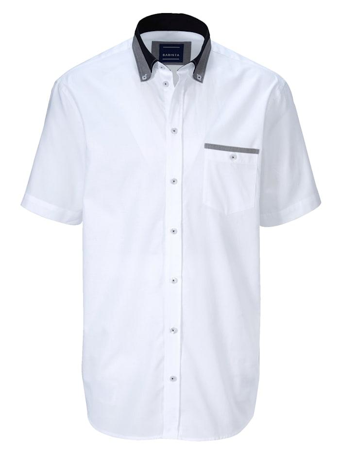 BABISTA Overhemd met fijne structuur, Wit