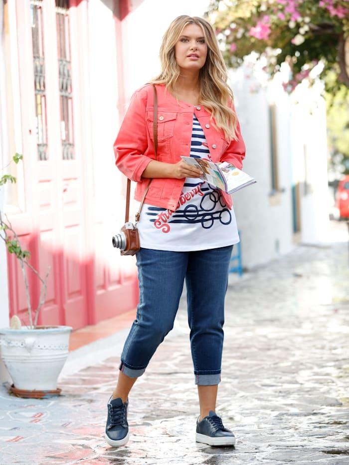 Veste en jean courte look used
