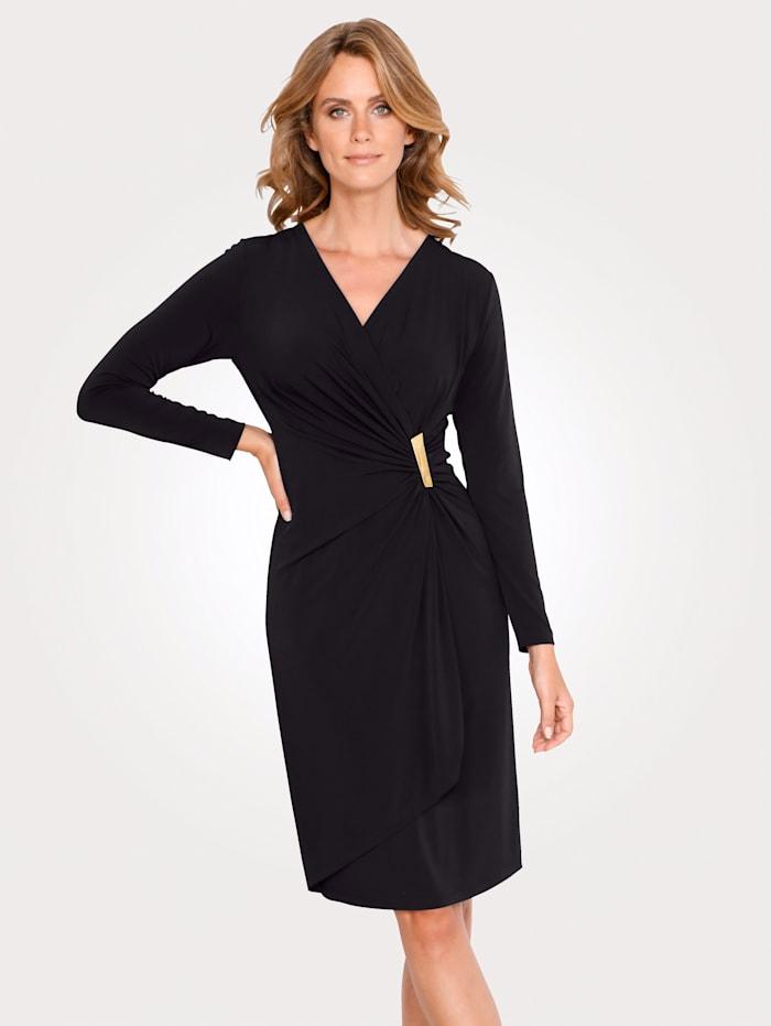 MONA Robe à boucle décorative, Noir