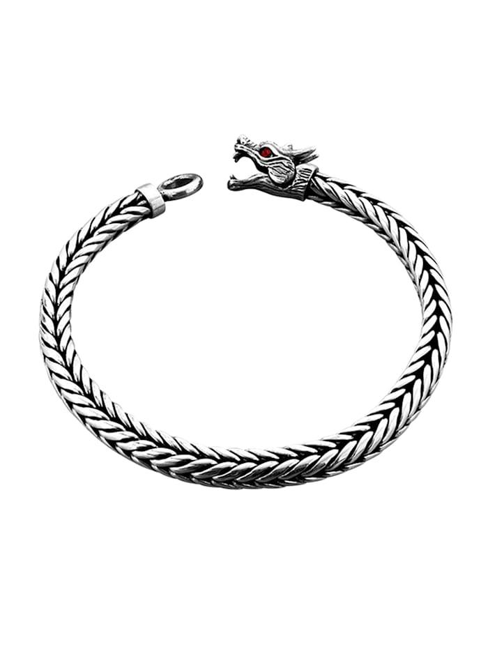 Armband Panzerarmband Drache Ringverschluss 925Er Silber