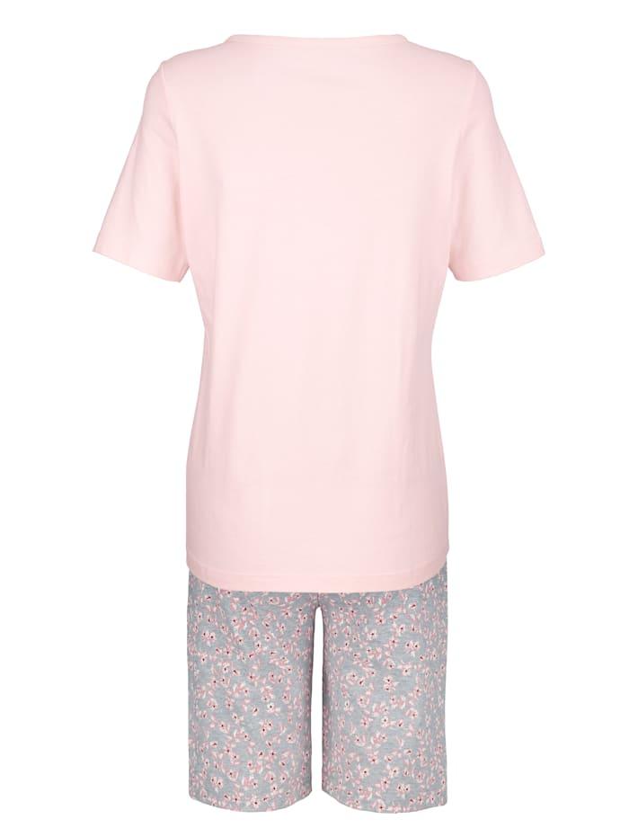 Pyjamas med blomtryck fram