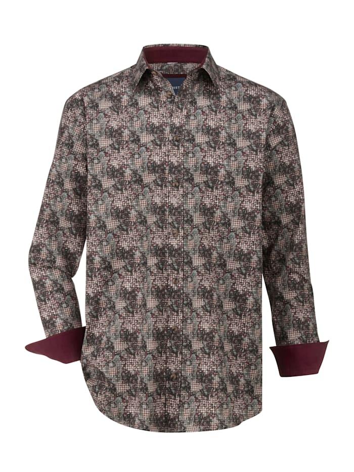 BABISTA Overhemd met modieus dessin rondom, Groen/Bordeaux