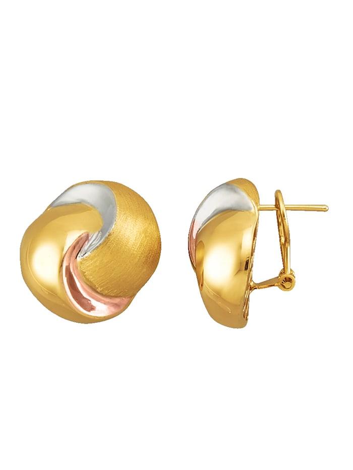 Amara Or Boucles d'oreilles tricolores, Coloris or jaune