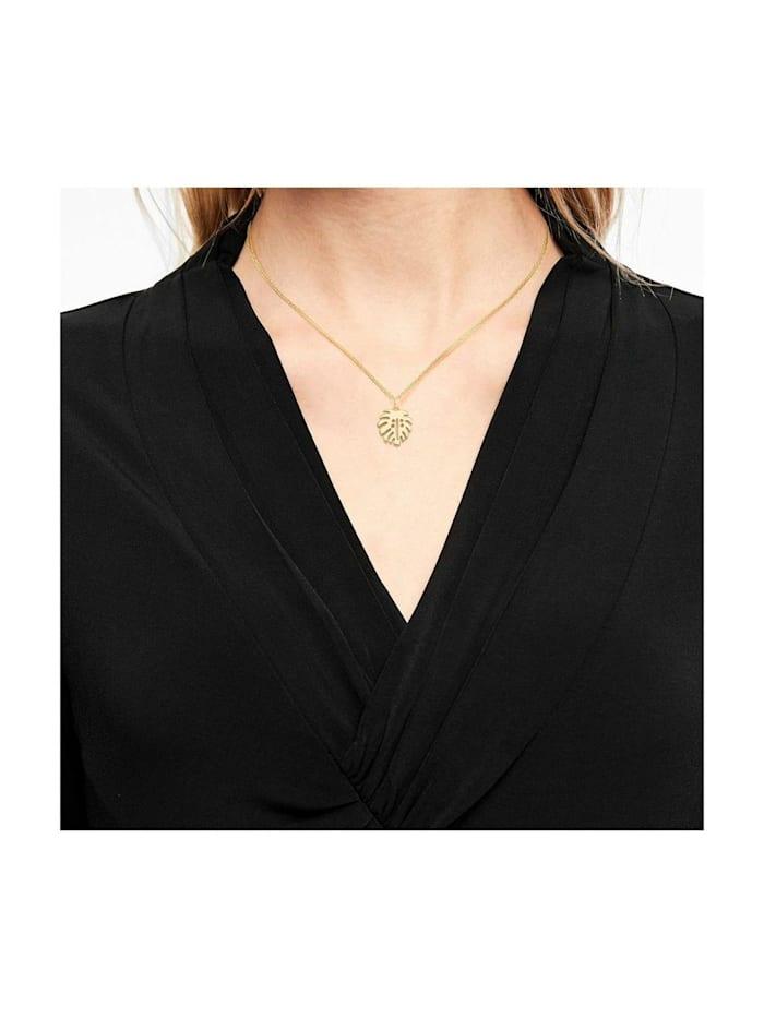 Halskette für Damen, Sterling Silber 925, Blatt