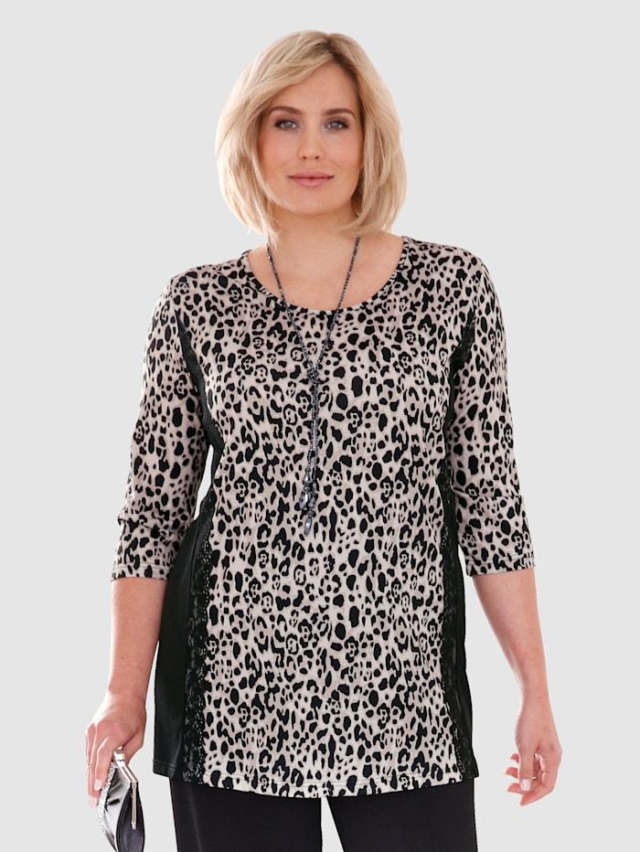 Lång topp med leopardmönster