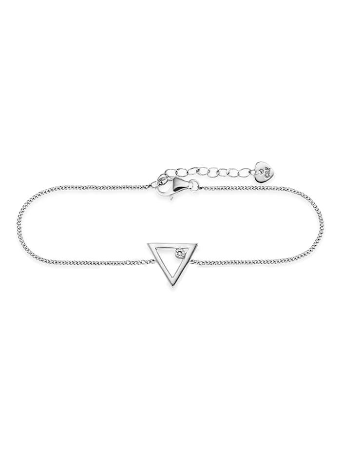 CAI Armband 925/- Sterling Silber Zirkonia 16+3cm rhodiniert, weiß