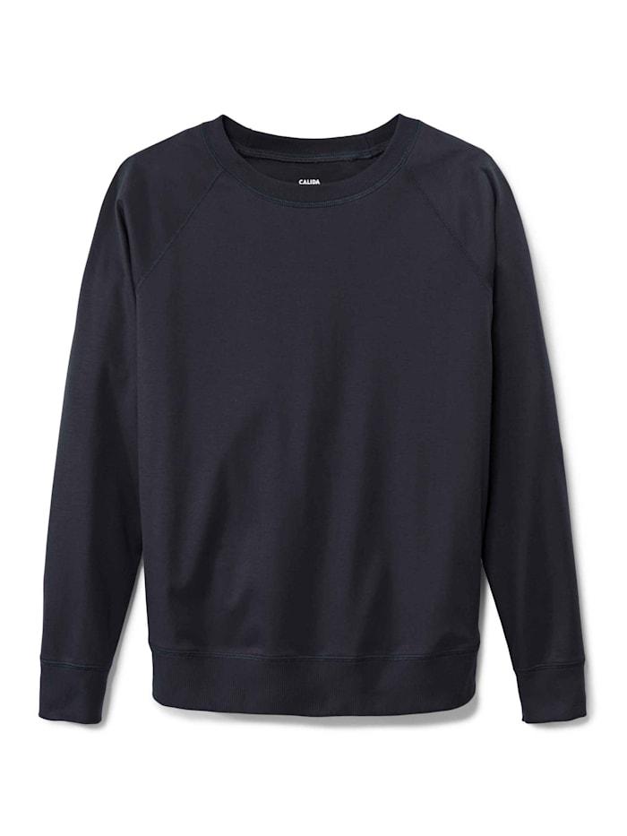 Calida Langarm-Shirt, Raglanärmel STANDARD 100 by OEKO-TEX zertifiziert, darkk lapis blue