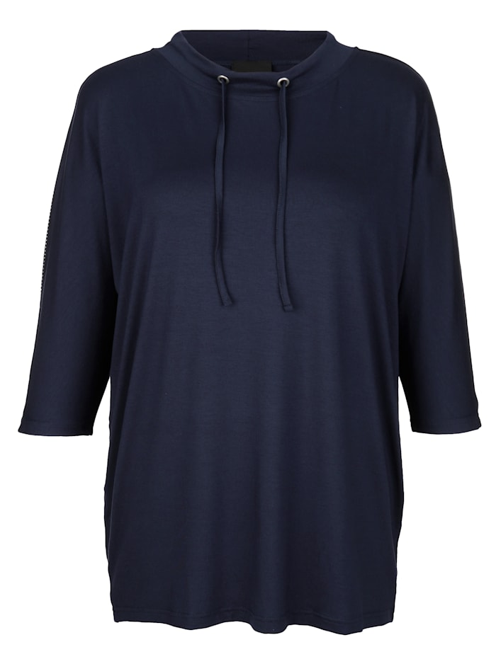 Shirt mit Tunnelzug am Ausschnitt
