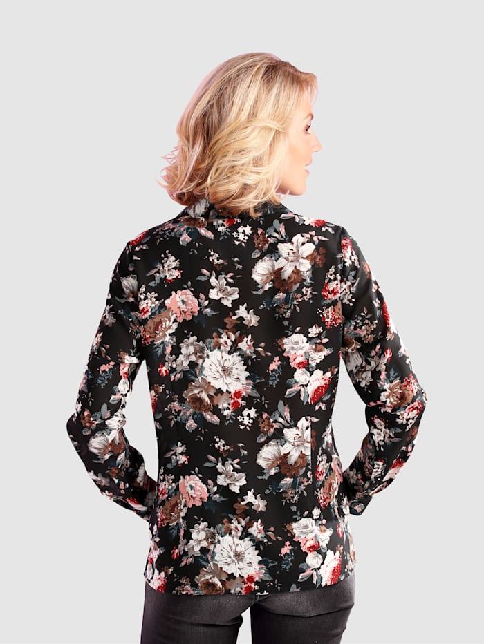 Kukkapainokuvioitu paitapusero