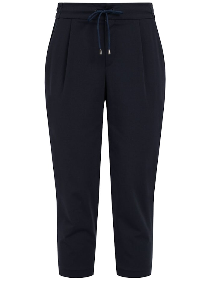 RECOVER Pants Legere Bundfaltenhose, Marineblau