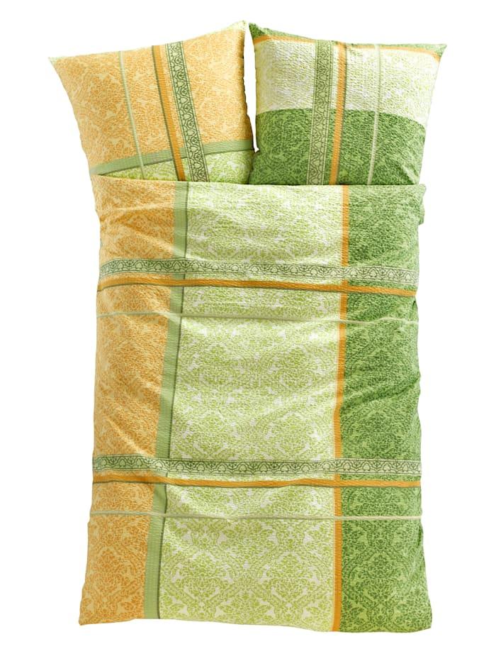 Webschatz Bäddserie i bäckebölja eller flanell, lindblomsgrön