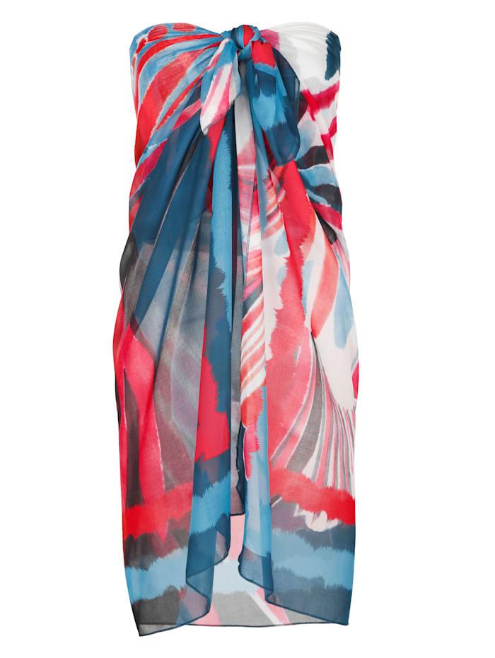 Sunflair Paréo à grand motif floral, Bleu