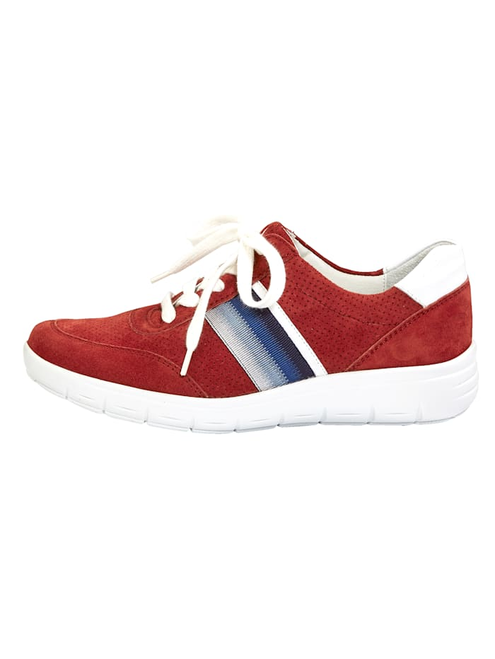 Lace-up shoes with air cushion sole