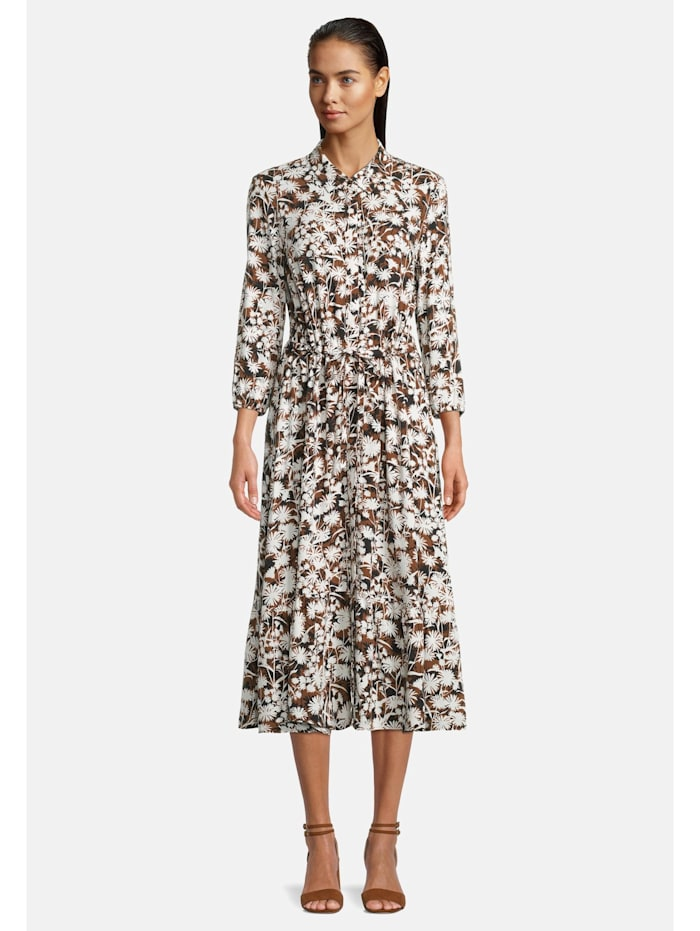 Betty & Co Hemdblusenkleid mit Print, Braun