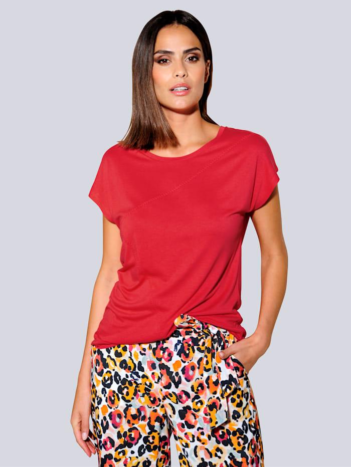 Alba Moda Shirt in aktueller Oversized-Form, Koralle