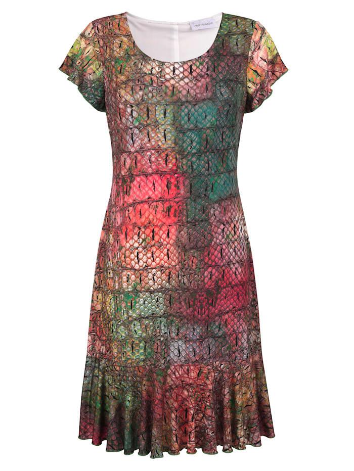 Kleid mit Kroko-Print allover