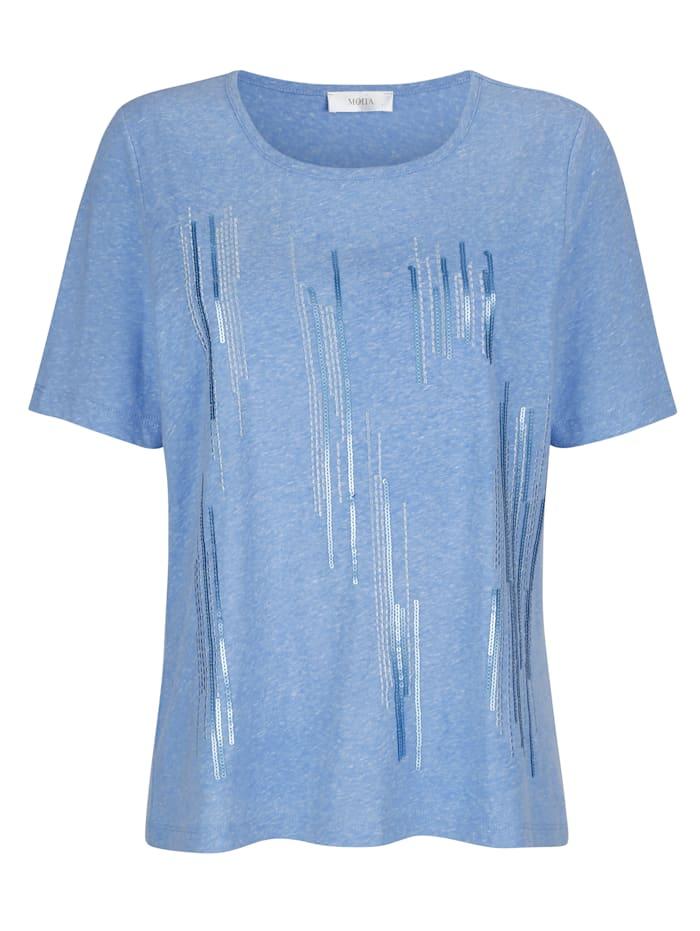 Shirt met gestreept borduursel