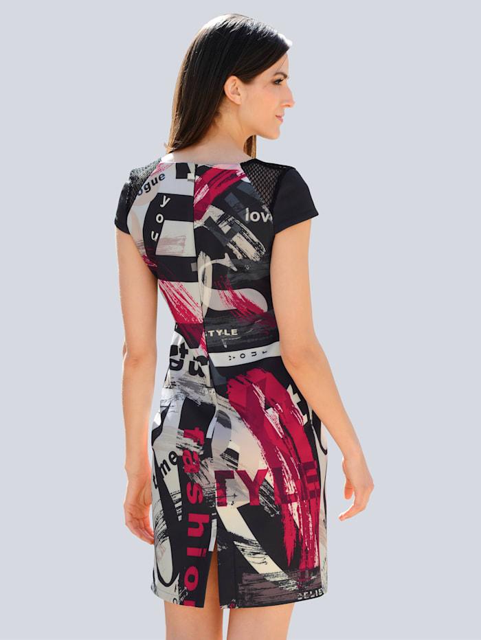 Jerseykleid mit abstraktem Print allover