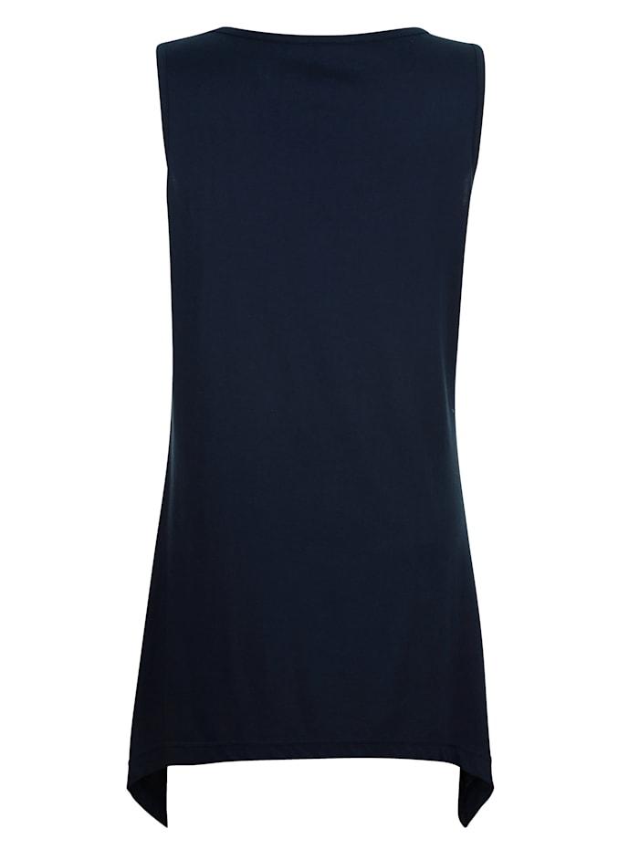 Strandshirt met trendy puntige zoom