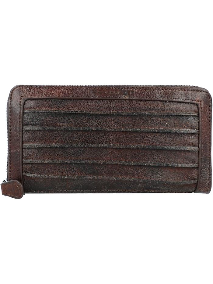 FredsBruder Riffel Big Geldbörse Leder 19 cm, fudge brown