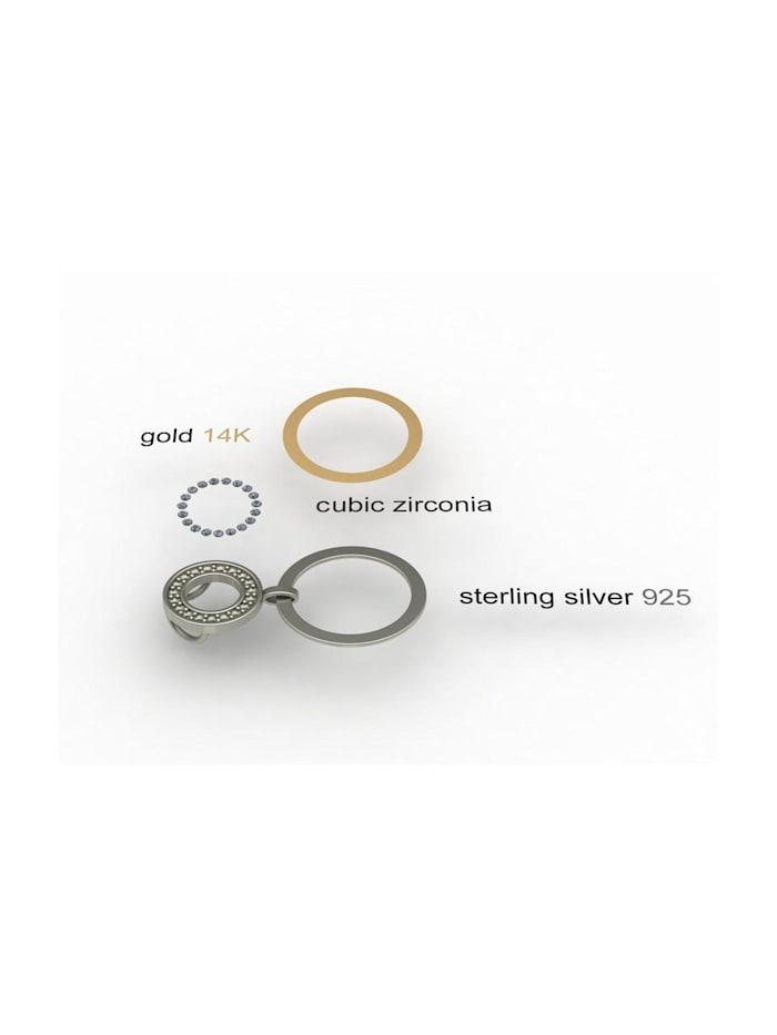 Anhänger - Sunny Exklusiv - Silber 925/000 & Gold 585/000 - Zirkonia