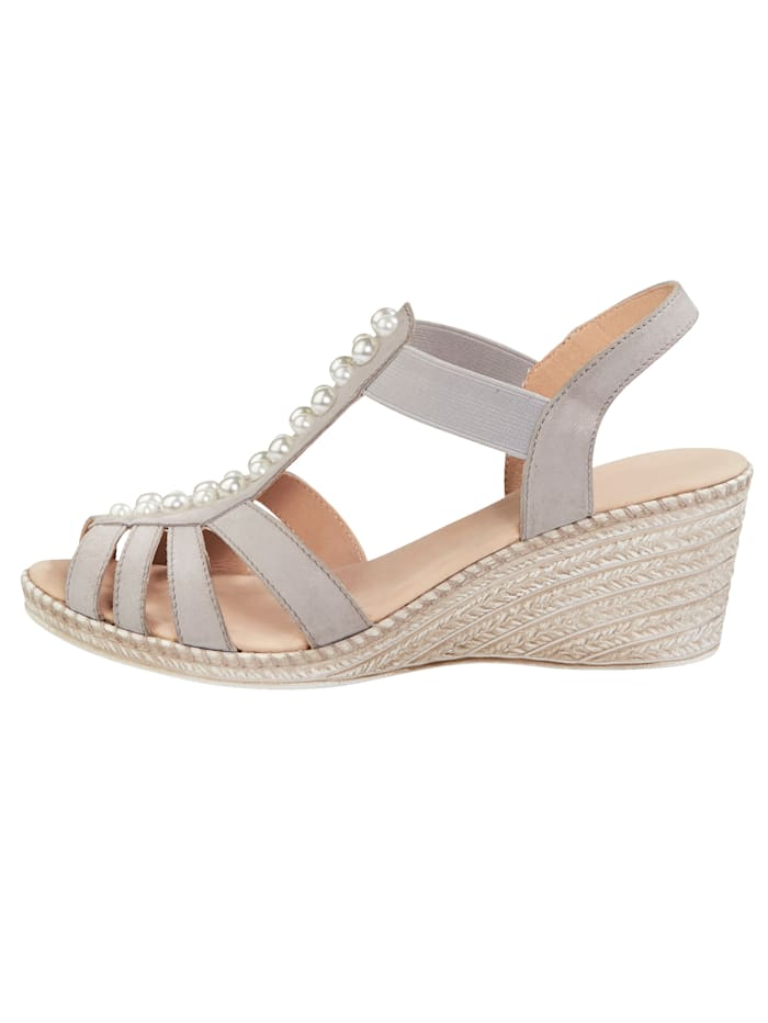 Sandals with faux pearl detailing