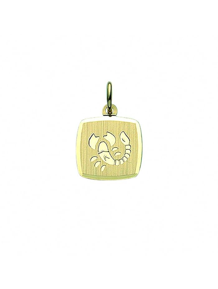 1001 Diamonds Damen & Herren Goldschmuck 333 Gold Sternzeichen Anhänger Skorpion, gold