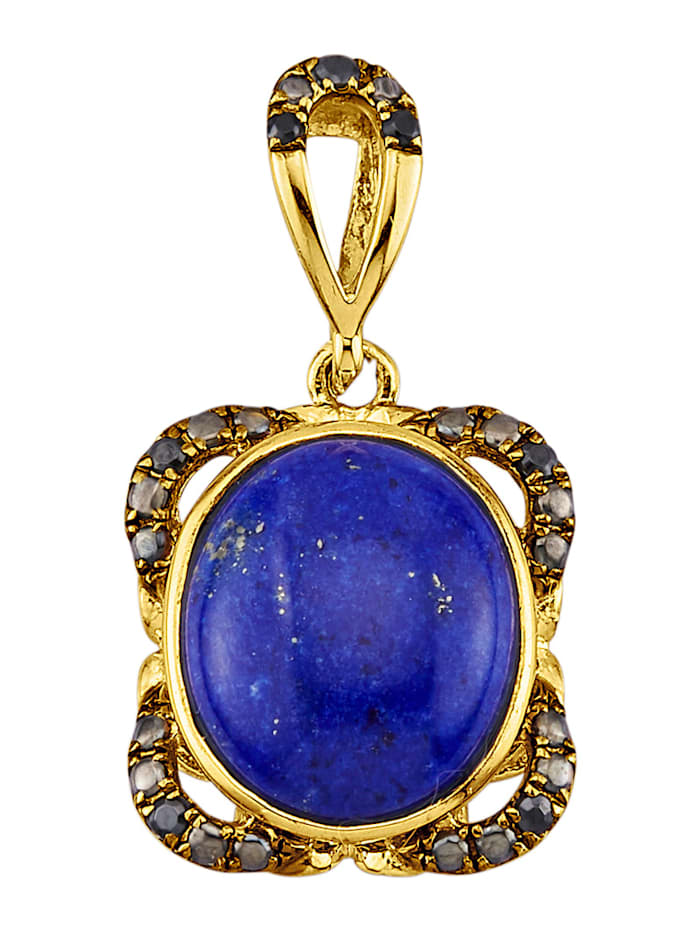 Pendentif avec lapis-lazulis et zirconia, Bleu