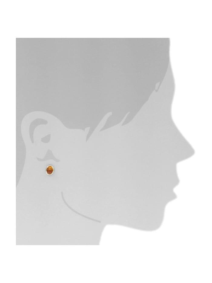 Ohrstecker - Classic 8x6 - Silber 925/000, vergoldet -