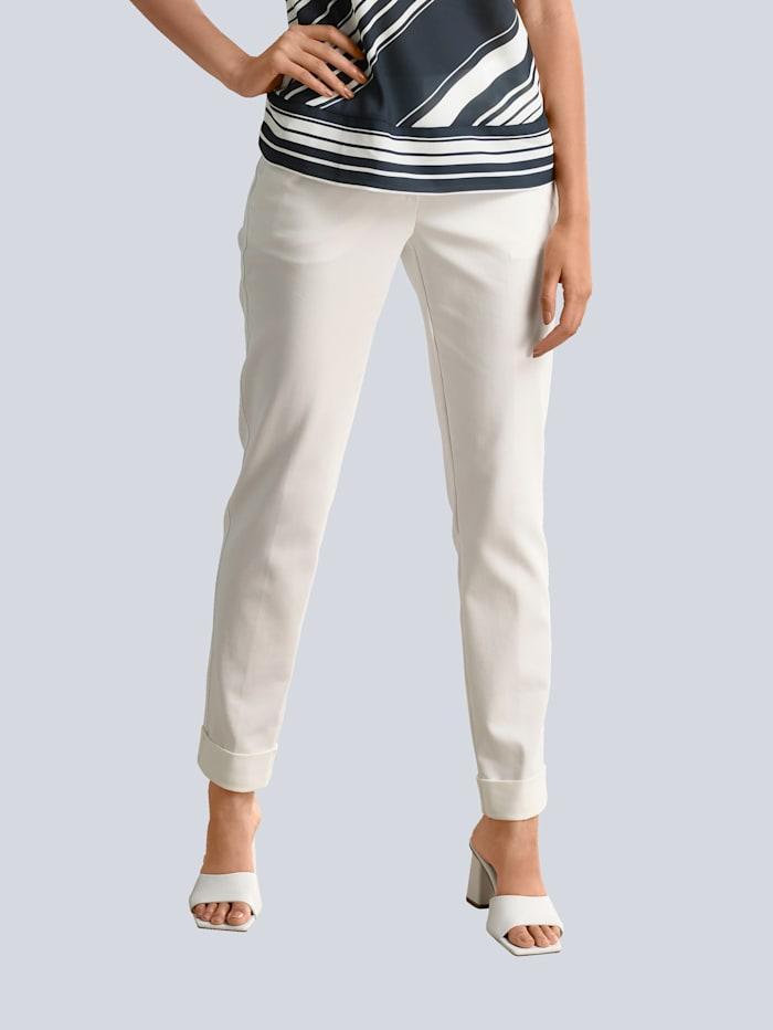 Alba Moda Hose mit etwas höherem Formbund, Weiß