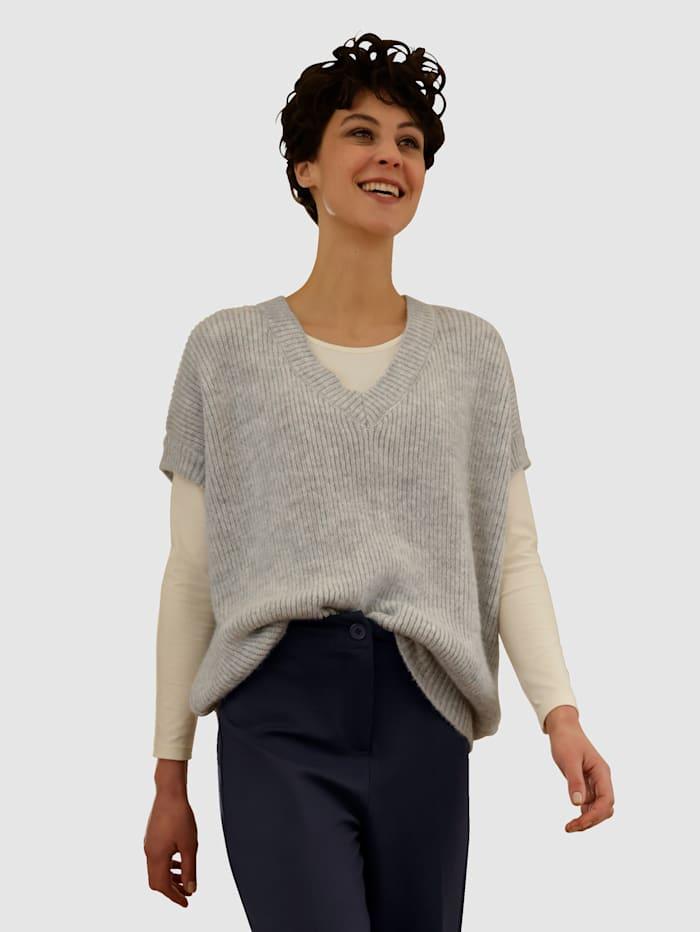 Dress In Pullunder mit V-Ausschnitt, Lichtgrau