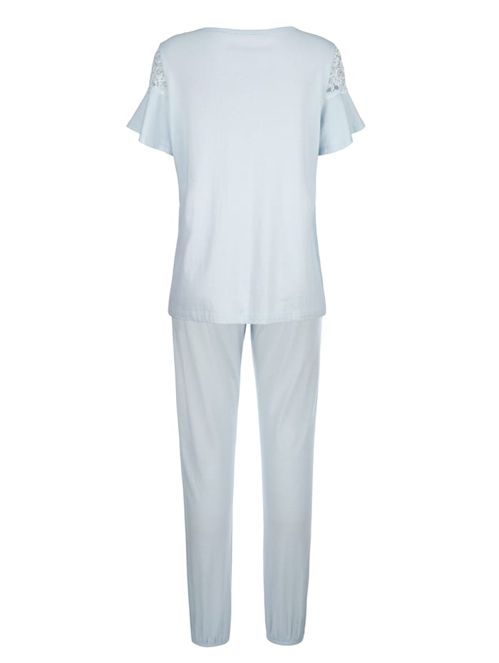 Pyjama à ravissantes manches volantées