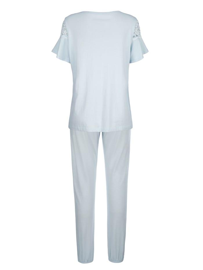 Pyjamas med söta volangärmar