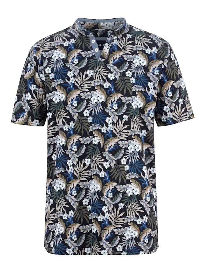 BABISTA Henleyshirt mit besonderem Stehkragen, Marineblau