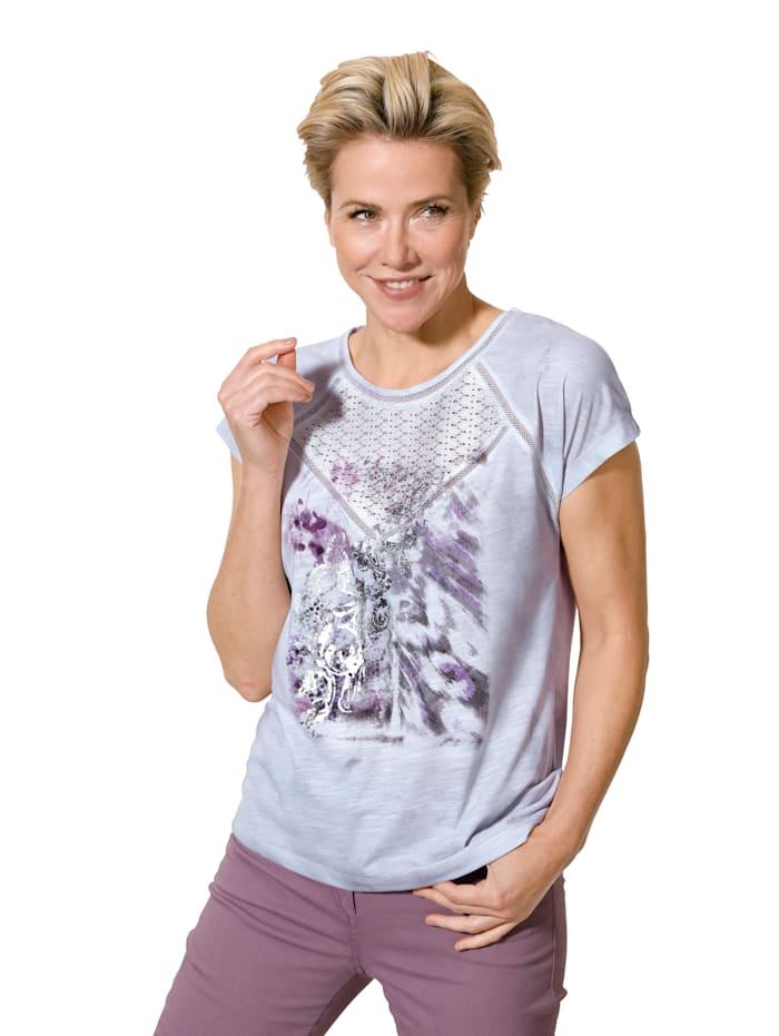 Shirt met print in harmonieuze kleuren