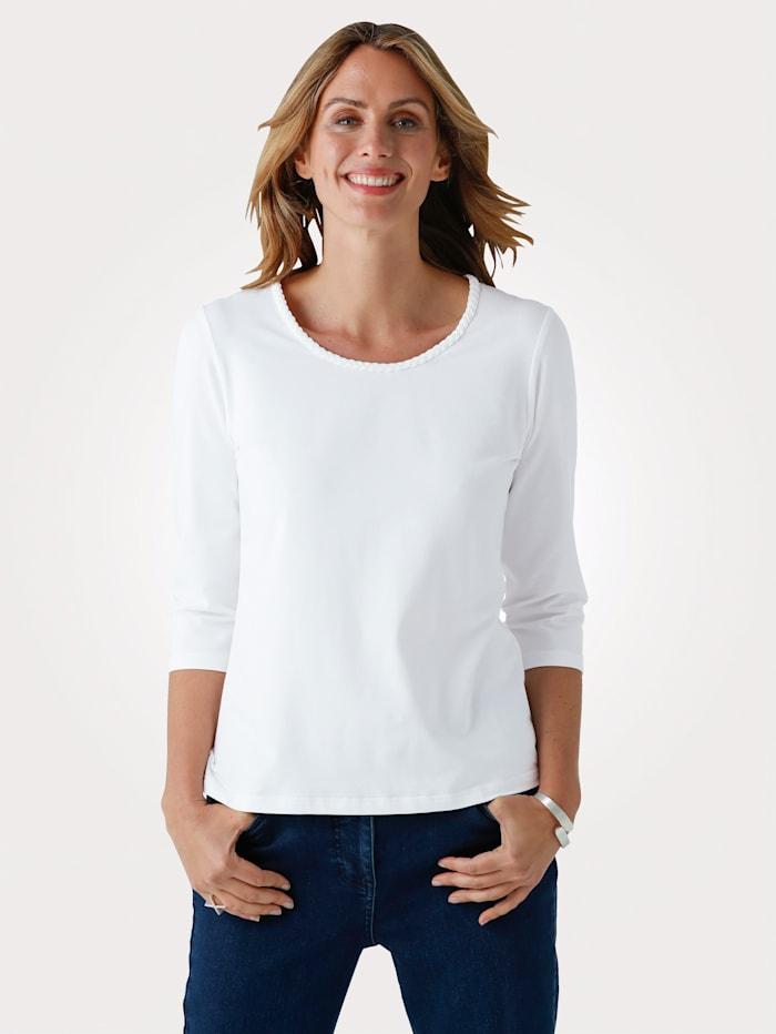 MONA Top with Pima cotton, White