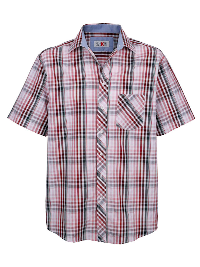 Roger Kent Košile s károvaným vzorem, Červená