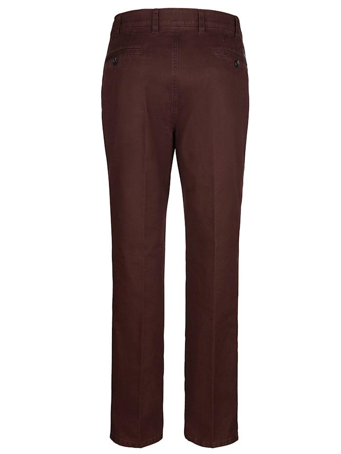 Pantalon coupe flatfront en gabardine