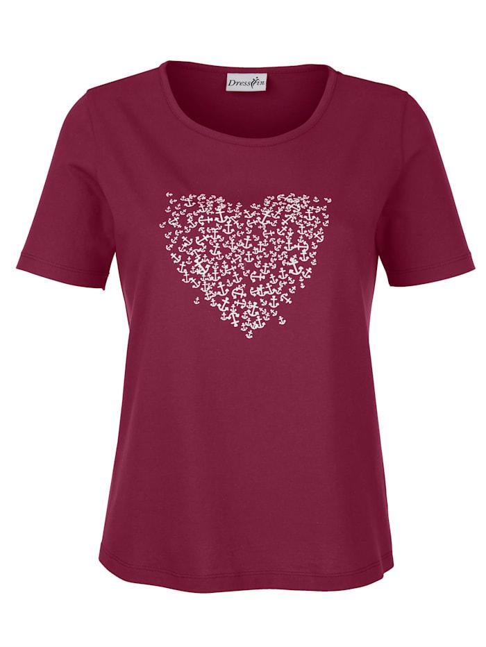 Shirt met ankerprint