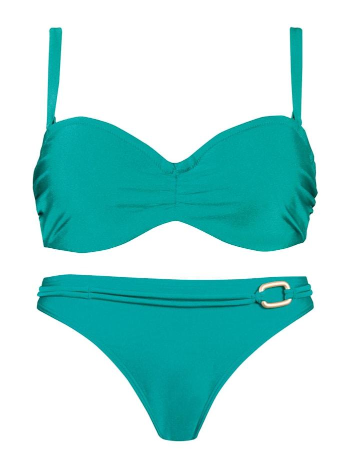 Naturana Bandeau Bügel Bikini, SMARAGD