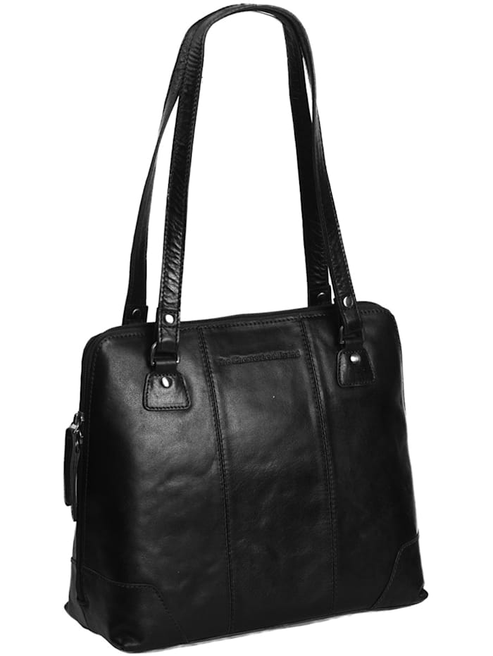The Chesterfield Brand Antique Buff Elly Schultertasche Leder 30 cm, black