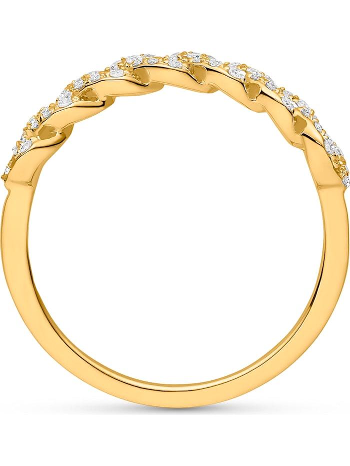 CHRIST Damen-Damenring 585er Gelbgold 46 Diamant