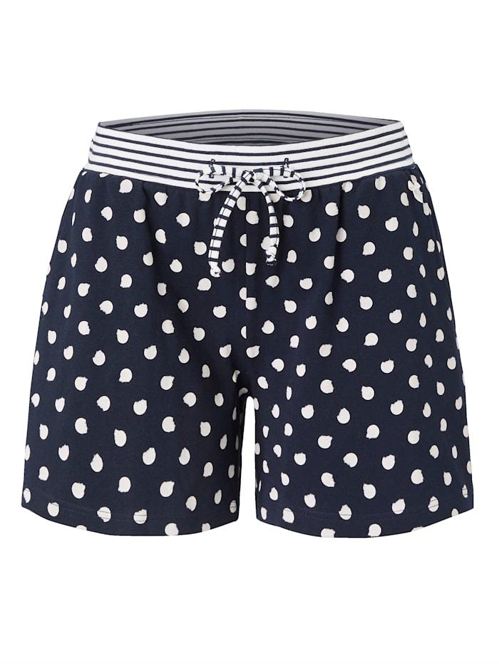 Short Stories Pyjamashorts, Marineblau