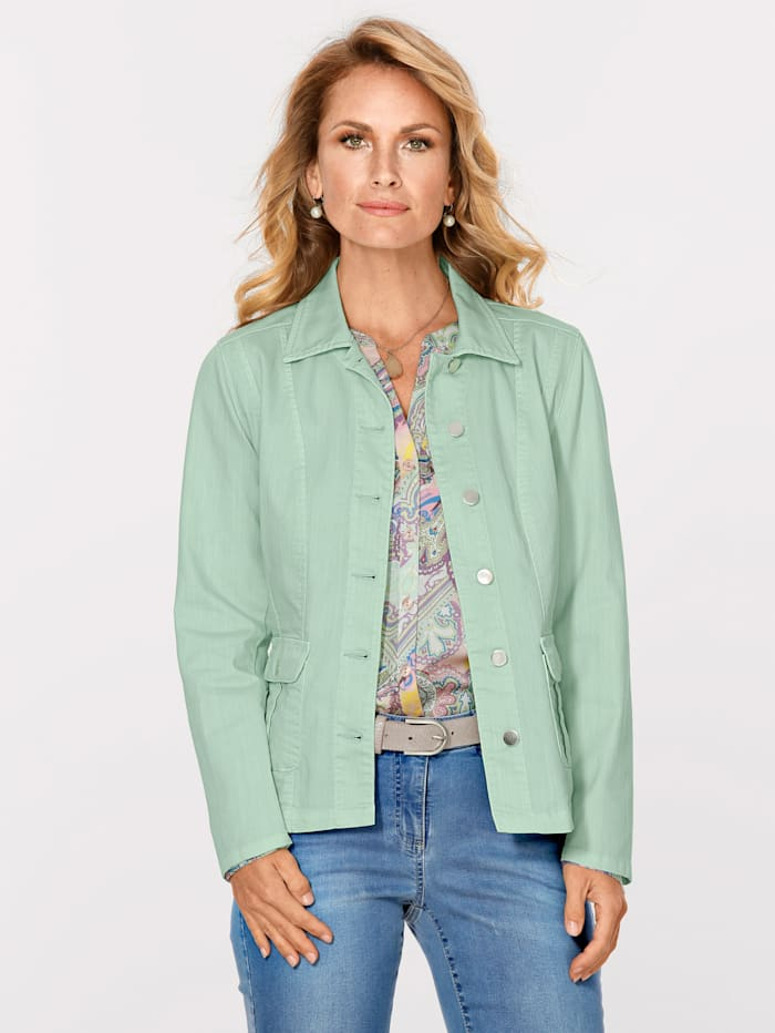 MONA Denim jacket with a touch of stretch, Mint