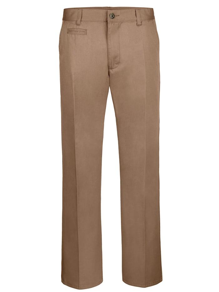 Roger Kent Flatfronthose in Baumwoll-Qualität, Camel