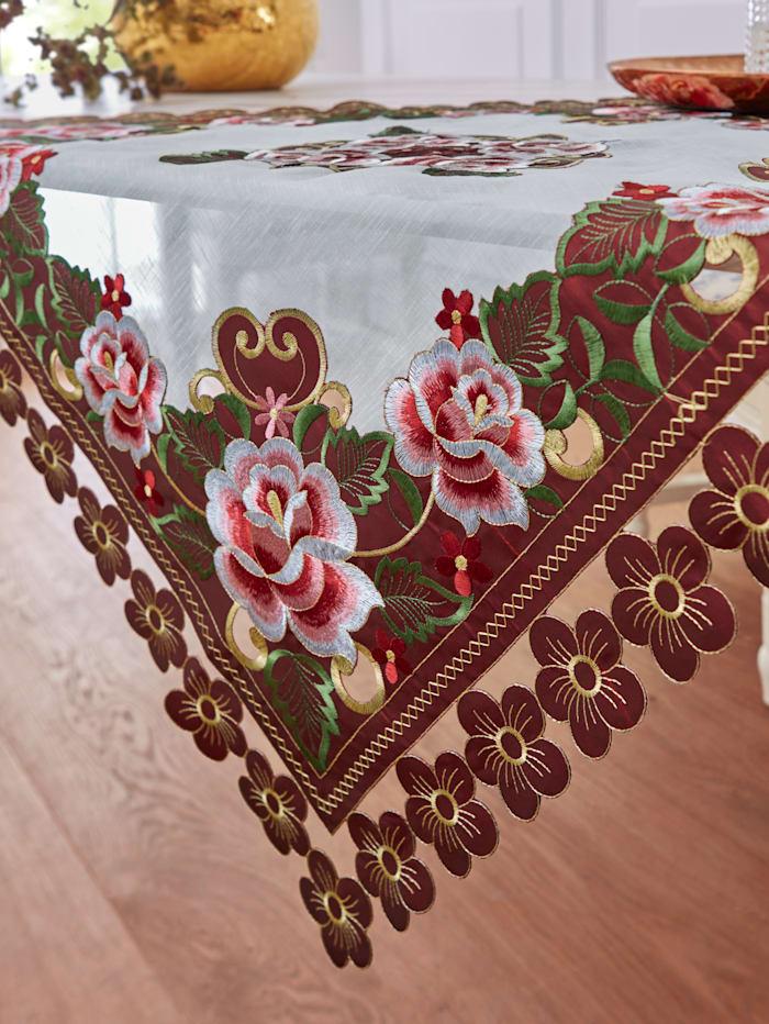 Webschatz Tischwäsche 'Liva', bordeaux