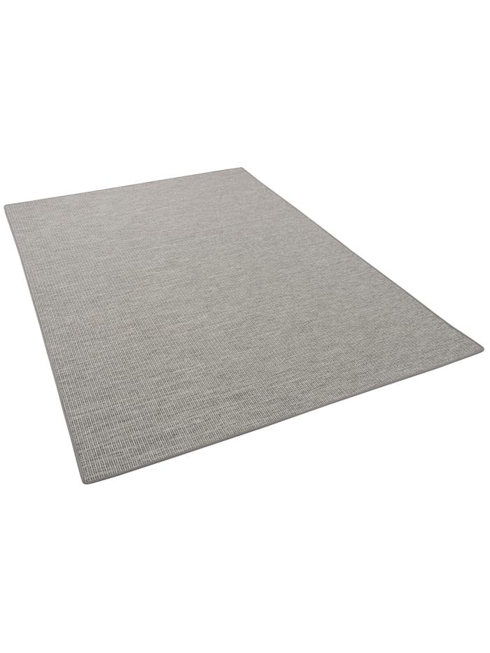Snapstyle Sisal-Optik Designer Flachgewebe Teppich Pure Meliert, Grau